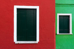 Colored box from the island of Burano Royalty Free Stock Photo