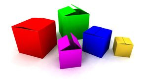Colored boxes Royalty Free Stock Photos