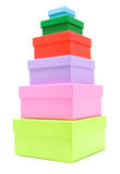 Colored boxes Royalty Free Stock Photo