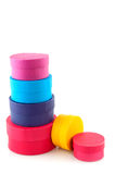 Colored boxes Royalty Free Stock Photography