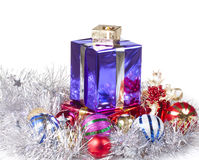 Colored boxes with christmas gifts Stock Image