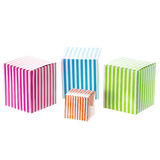 Colored boxes Stock Image