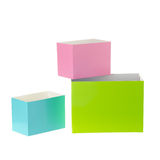 Colored boxes Stock Photography