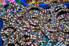 Colored bracelets royalty free stock photography
