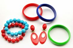 Colored bracelets Stock Images