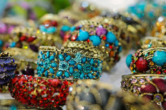 Colored bracelets Stock Photos