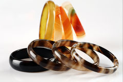 Colored bracelets Stock Photography