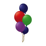 Colored branch balloons party Royalty Free Stock Photo