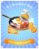 Colored Breakfast Poster Stock Photography