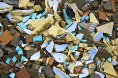 Colored Brick Rubble Royalty Free Stock Photos