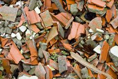 Colored Brick Rubble Royalty Free Stock Photo