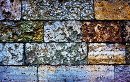 Colored brick wall Stock Image