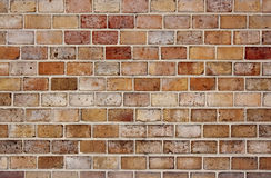 Colored brick wall Stock Photography