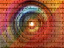 Colored brick wall. A colored brick background design Royalty Free Stock Photo