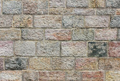 Colored brick wall background, texture Stock Photography