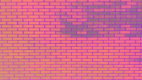Colored Brick Wall with peeling paint background texture Royalty Free Stock Photos