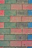 Colored bricks Stock Photography