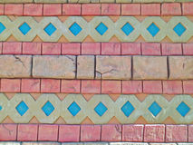 Colored bricks Stock Image
