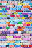 Colored bricks pattern Royalty Free Stock Image