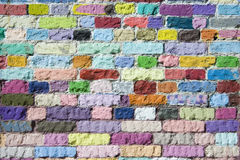 Colored bricks pattern Stock Photography