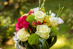 Colored bride bouquet made of roses Royalty Free Stock Image