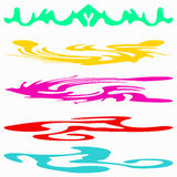 Colored bright banners beautiful collection for design Royalty Free Stock Photo