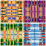 Colored bright lines geometric background collection of vector illustration Royalty Free Stock Image