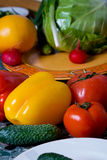 Colored bright rich delicious vegetables Royalty Free Stock Photo