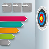 Colored Broken Arrows Target Rectangles Royalty Free Stock Photos