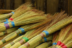 Colored brooms Royalty Free Stock Photos