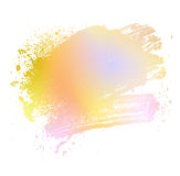 Colored brush 01. Smudge and smear a colored brush on a white background, illustration clip-art royalty free illustration