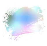 Colored brush. Smudge and smear a colored brush on a white background, illustration clip-art Stock Photos