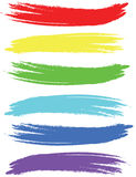 Colored brush strokes. Royalty Free Stock Images