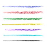Colored brush strokes of pastel Royalty Free Stock Images