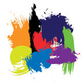 Colored Brushes Royalty Free Stock Photography