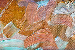Free Colored Brushstrokes In Oil On Canvas Royalty Free Stock Photography - 19049387