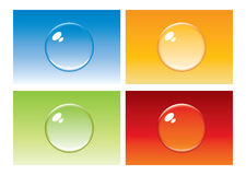 Colored bubble button Royalty Free Stock Photos