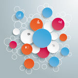 Colored Bubble Circles Infographic Stock Photos