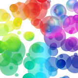 Colored bubbles Stock Images