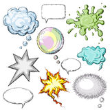 Colored bubbles. Collection of comic speech bubbles Royalty Free Stock Images