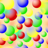 Colored bubbles. Seamless Texture. Royalty Free Stock Photos