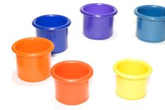 Colored bucket Stock Photos