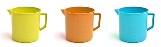 Colored buckets Stock Photos