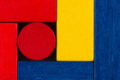 Colored building blocks texture Stock Photography