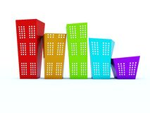 Colored buildings Royalty Free Stock Photo