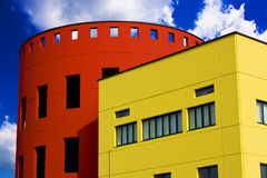 Colored buildings against the blue sky Royalty Free Stock Photography