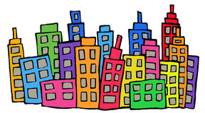 Colored buildings Royalty Free Stock Photography