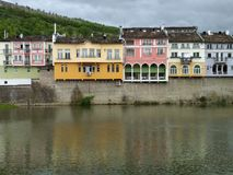 Colored buildings in the city royalty free stock photography