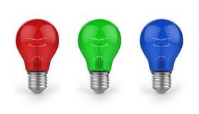 Colored bulbs Stock Photo