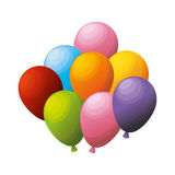Colored bunch balloons party Royalty Free Stock Images